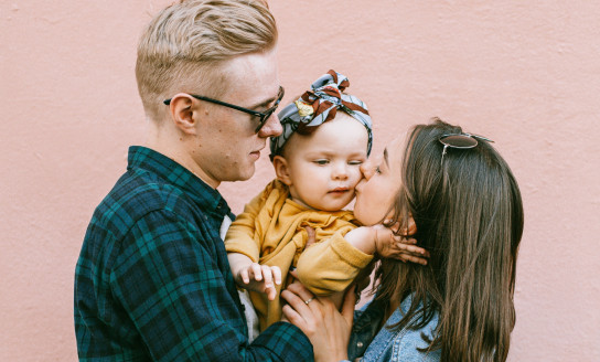 mother kissing her daughter 3662849 v2